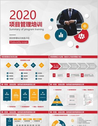 企业简洁项目管理培训PPT模板