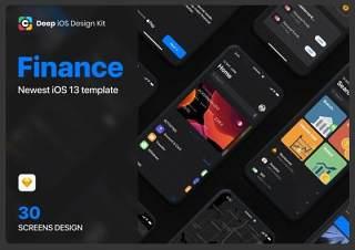 金融应用程序UI工具包草图设计Cadeep - Finance App UI Kit design for sketch